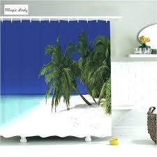 bathroom decor shower curtain tropical accessories ocean art nature coast colorful s hawaiian style ideas bat