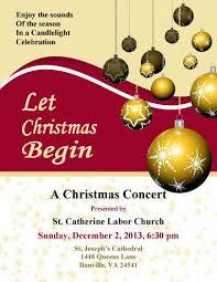 Christmas Flyer Templates Church Concert Christmas Flyer Template Christmas Flyer