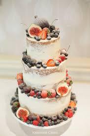 Semi Naked Wedding Cake With Fruit Cake By Kasserina Cakes