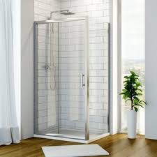 hydrolux 6mm 1400mm x 900mm sliding shower enclosure with side panel tray