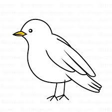 白い小鳥の無料イラスト素材イラストイメージ