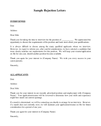 Resume Rejection Letter 3 Job Applicant Rejection Letter Sample Top Form
