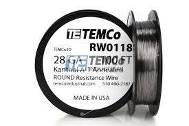 24 Gauge Kanthal Build Chart Kanthal A1 Wire 28 Awg Rw0118 100 Ft 0 61 Oz Series A 1 Resistance