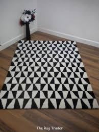 black and white geometric rug. plantation geometric rug black white various sizes and s