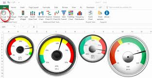 Free Gauge Chart Free Excel Gauge Chart Downloads How Create Kpi Dashboard In