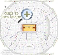 Fedexforum Seat Row Numbers Detailed Seating Chart