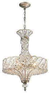 elk lighting bria 6 light chandelier aged silver