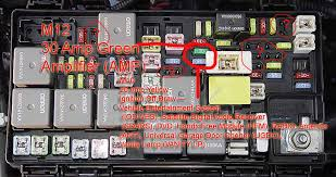 amp remote cable to fuse box i then began searching about the fuse box information and stumbled upon this picture