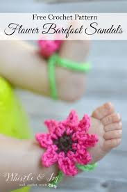free crochet pattern summer flower baby barefoot sandals perfect stretchy and comfy little sandals