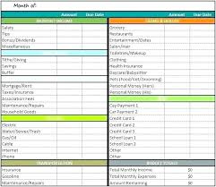 Expense Spreadsheet Template Free Excel Budgeting Templates Budget