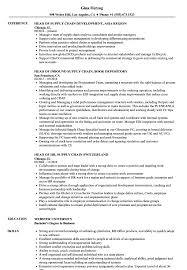 Head Supply Chain Resume Samples Velvet Jobs
