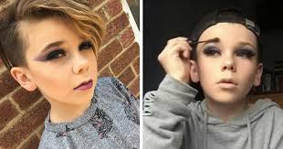 10 year old bees internet sensation for his awesome make up skills bored panda