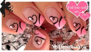 Easy Valentine's Day Nail Art   Diseño de Uñas San Valentín ...
