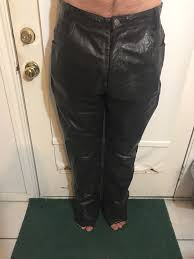 wilsons m julian size 34 black genuine leather motorcycle lined pants unhemmed wilsonsleather biker