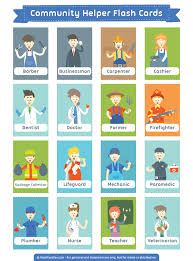 Community Helpers Chart Pdf Pin By Muse Printables On Flash Cards At Flashcardfox Com