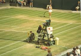 me climbing on my umpire chair at wimbledon