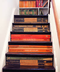 stair bookcase furniture. Black Wooden Stairs As Books Shelves Under The Combined With White Brown Side Bars Stair Bookcase Furniture