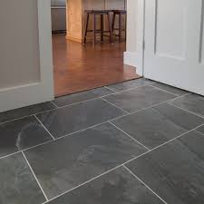 Slate Kitchen Flooring Mudroom Primitive Anthracite 13x19 Dark Gray Slate Tile Light