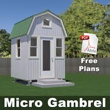 Micro Gambrel Plans   Tiny House Design
