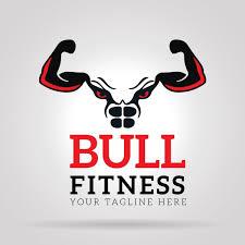 Bull Fitness Gym Logo Free Vector In Adobe Illustrator Ai