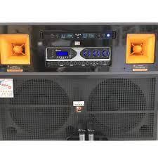 """LOA ĐIỆN CAO CẤP """"PROSING J97"""" karaoke bass 4 tấc đôi - 2 Treble - Thùng gỗ  - Công"""