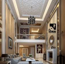 Living Room Ceiling Lights Awesome High Ceiling Lights Combined With Luxurious Chandelier For