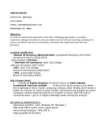 Accounts Resume Format Tally Resume Sample Finance Fresher Resume
