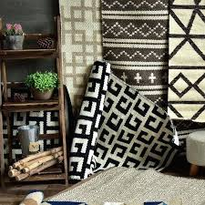 cotton handmade carpet geometric black white rug plaid striped modern contemporary and diamond australia stunning