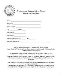 General Employee Information Form Rome Fontanacountryinn Com