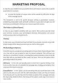 Business Proposals Format Sample Project Proposal Template Free