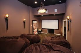 movie room lighting. Movie Room Media Decorating Idea Applying Wall Sconces Intended For Sizing 2742 X 1811 Lighting