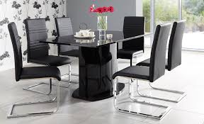 black and white dining chairs elegant nusa black white dining set glass gloss dining sets fads