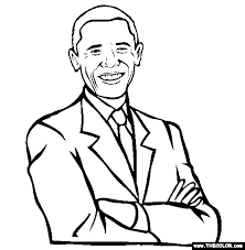 Small Picture Barack Obama Coloring Page Free Barack Obama Online Coloring
