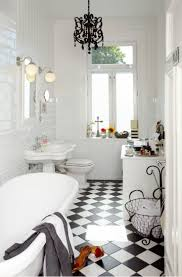 awesome 31 retro black white bathroom floor tile ideas and pictures