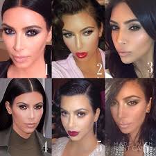 best kim kardashian makeup looks by mario dedivanovic