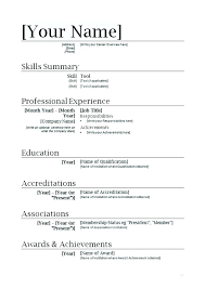 How To Find Resume Templates On Microsoft Word 2007 Resume Templates