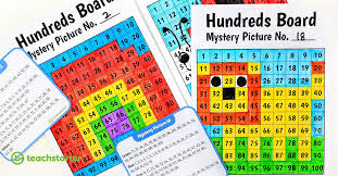 32 Awesome Printable Hundreds Board Mystery Picture Task Cards