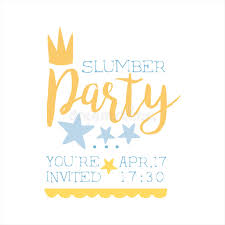 sleepover template girly pajama party invitation card template with crown inviting kids