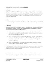 Sample Persuasive Briefing Memo Template Policy And Minutes Of ...