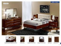 Light Walnut Bedroom Furniture Esf Furniture Matrix Comp 8 4 Piece Maxi Quadri Platform Bedroom