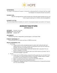 Accounting Intern Job Description Best Photos of Marketing Intern Job Description Samples Marketing 1