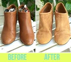 how to fix scuffed leather shoes suede scratched faux car seats repairing 3 for boots heels