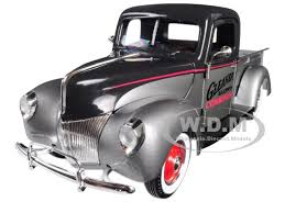 1940 Ford Gleaner Pickup Truck Silver Black Top 1/25 Diecast Model ...