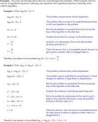 example 1 solve log 9x 4 log 9x