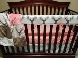 baby girl crib bedding tulip fawn deer skin minky white tan newborn
