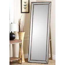 Silver & Gold Full Length Cheval Floor Mirror - 18W x 64H in. | Hayneedle