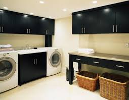 ... View in gallery A black and white dcor could also suit a modern  laundry room