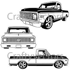 3000x3000 chevrolet c10 truck 1970 to 1971 vector file
