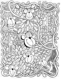 Kleurplaat Aap Dover Publications Kleurplaten Groep 7 Animal
