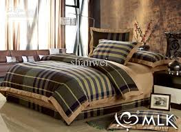top quality yarn dyed 100 cotton man plaid duvet cover sheet sets plaid duvet covers king